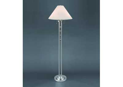 Magnum Chrome Floor Lamp w/Shade