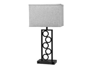 Image for Brown Stack Circle Lamp W/ Outlet