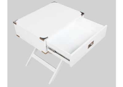 Image for Hudson  White Chairside Table