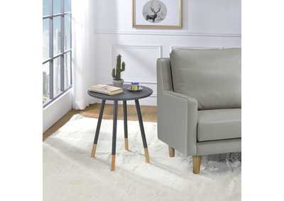 Gray Chairside Table