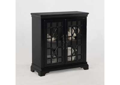 Francesca Black Accent Cabinet