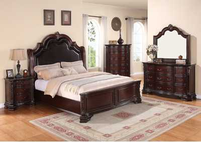 Sheffield King Bed w/Dresser and Mirror