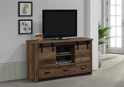 Image for Calhoun Brown Media Chest W/Barn Door