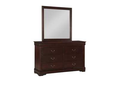 Louis Philip Cherry Dresser & Mirror