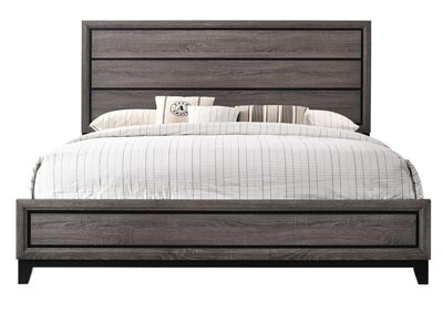 Akerson Grey King Panel Bed