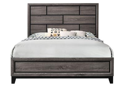 Akerson Grey Full Panel Bed