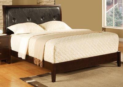 Image for Coralee Dark Brown Upholstered Queen Bed