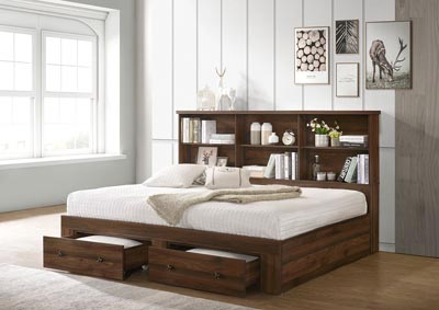 Millie Brown Full/Twin Daybed Bookcase
