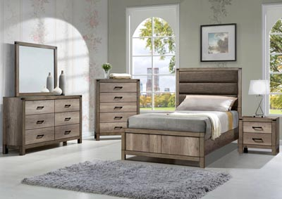 Matteo Upholstered/Panel Twin Bed