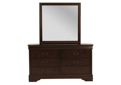 Louis Philip  Cherry 6 Drawer Dresser