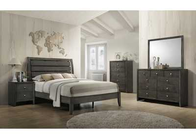Evan Grey Queen Platform Bed,Crown Mark