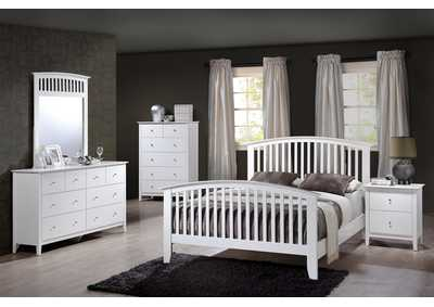 Lawson White Full Platform Bed w/Dresser and Mirror