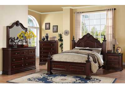 Charlotte King Poster Bed w/Dresser, Mirror and Nightstand
