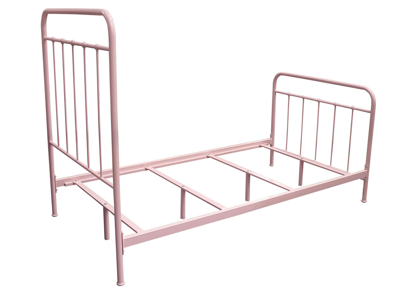 Bailey Pink Powder Coat Metal Twin Bed,Diamond Sofa