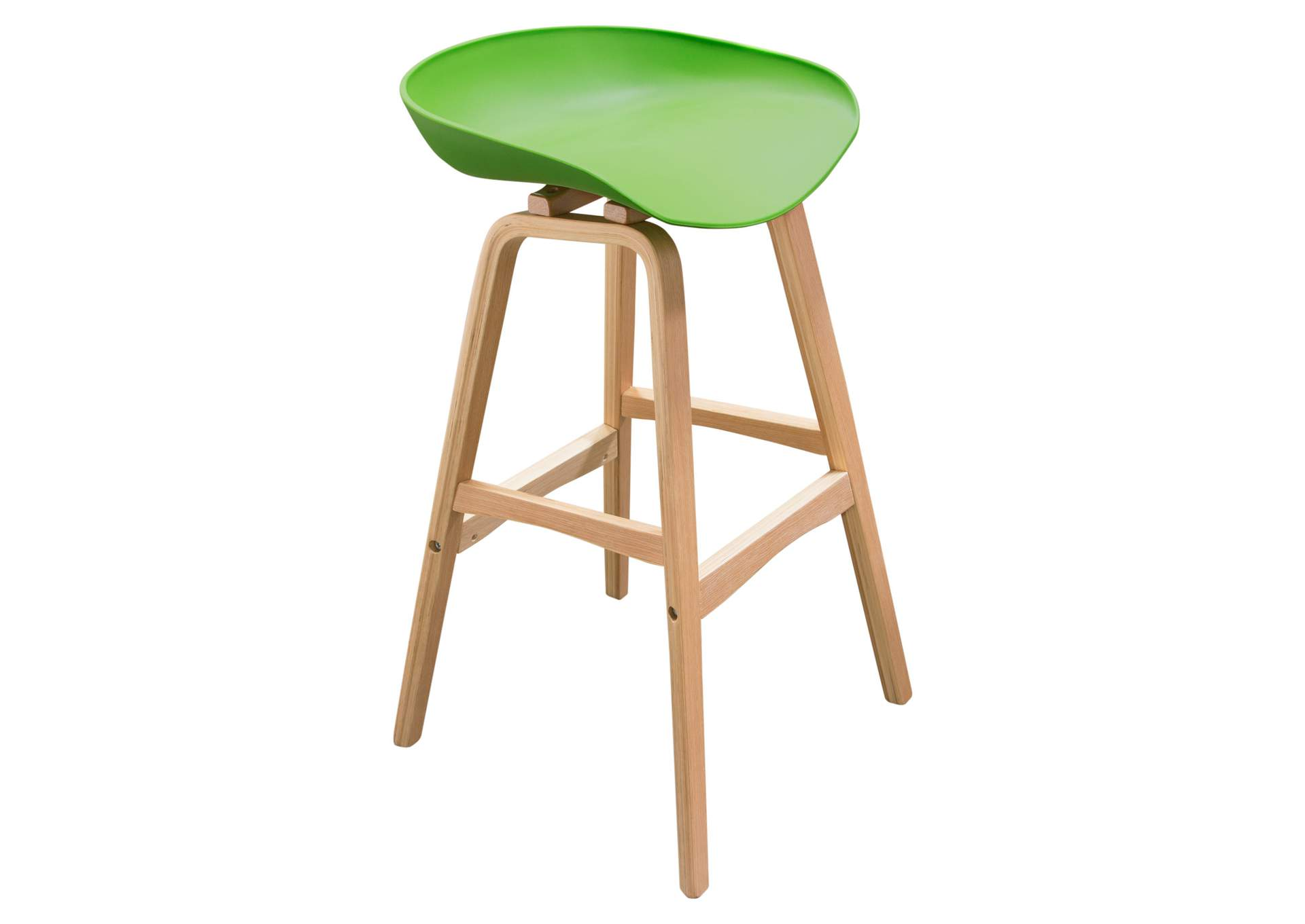 Brentwood Green Bar Height Stool w/Molded Bamboo Frame,Diamond Sofa