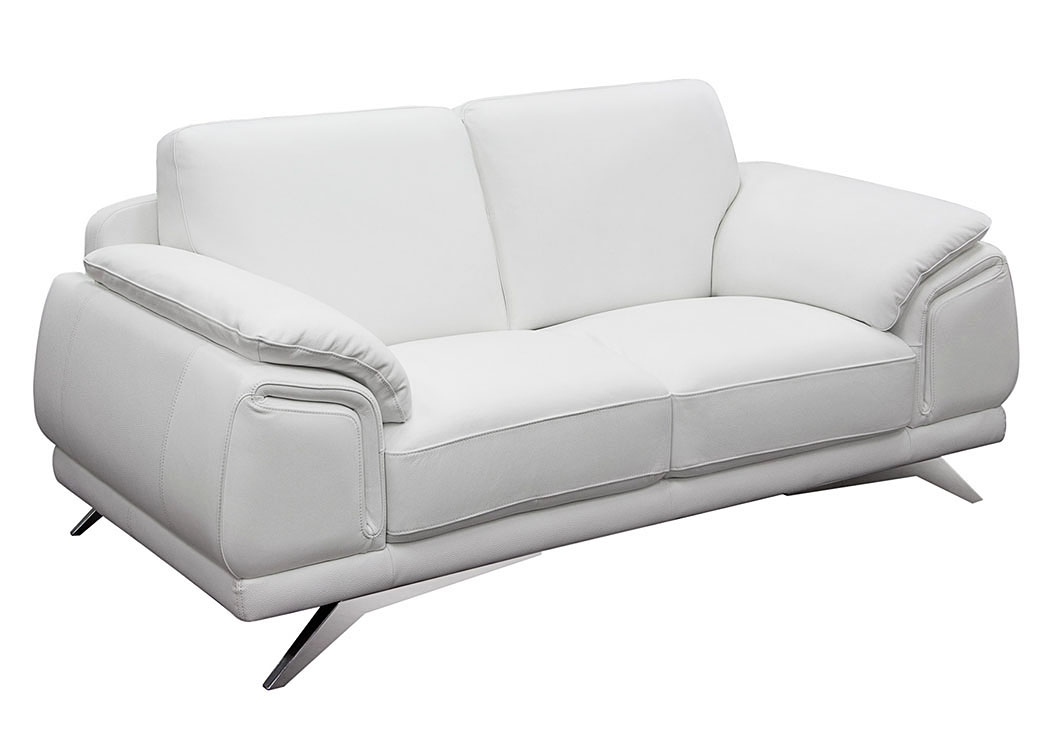 Superieur Casablanca Top Grain Leather Loveseat,Diamond Sofa
