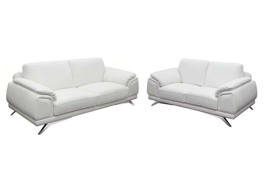 Casablanca Top Grain Leather Sofa,Diamond Sofa