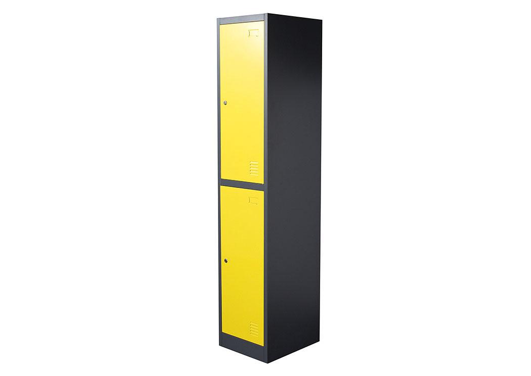 Your Cost Furniture 2 Door Metal Storage Locker Cabinet With Key