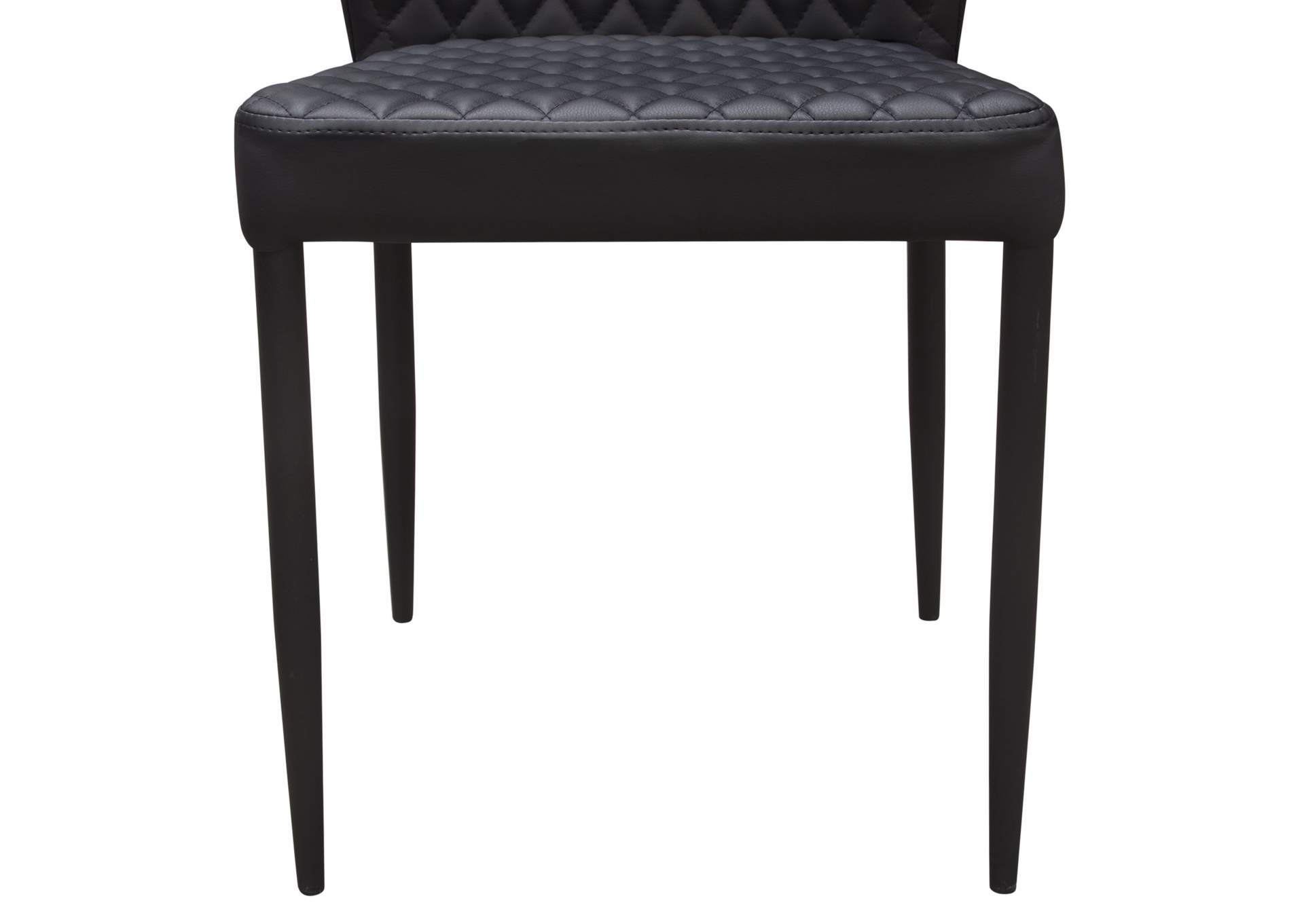 Milo Black Diamond 4-Pack Dining Chairs  w/Black Powder Coat Legs,Diamond Sofa