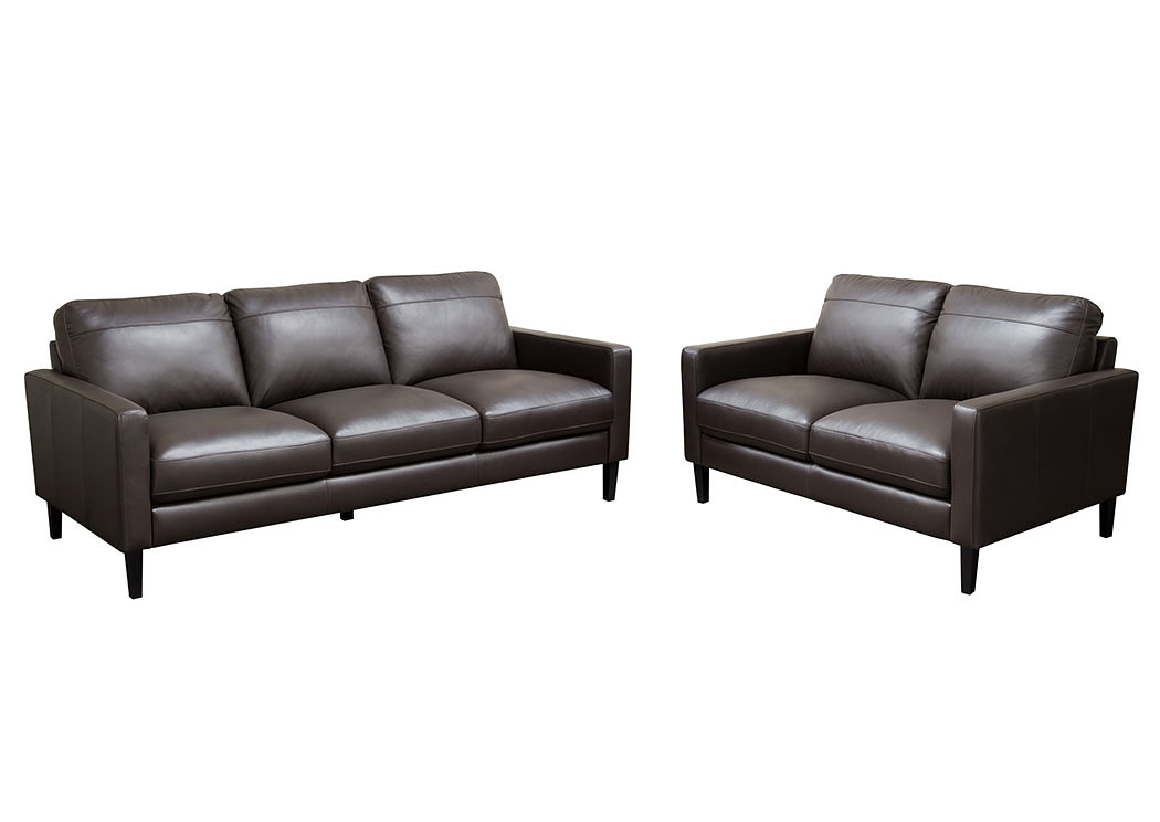 Omega Full Leather Sofa U0026 Loveseat 2 Piece Set,Diamond Sofa
