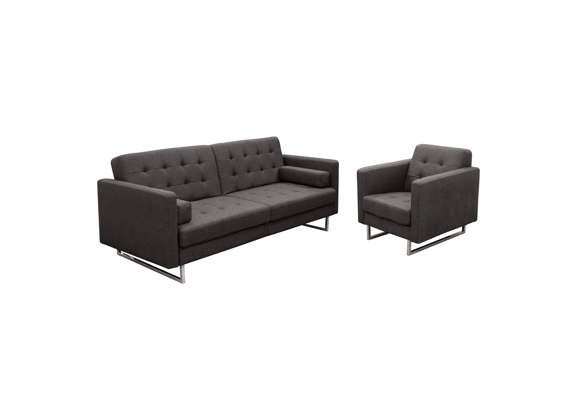 Opus Convertible Tufted Sofa with Chair 2PC Set,Diamond Sofa