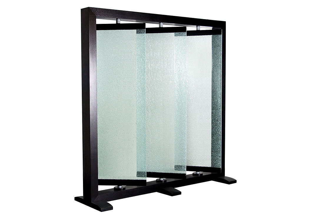 Triple Panel Crackled Glass Room Partition,Diamond Sofa