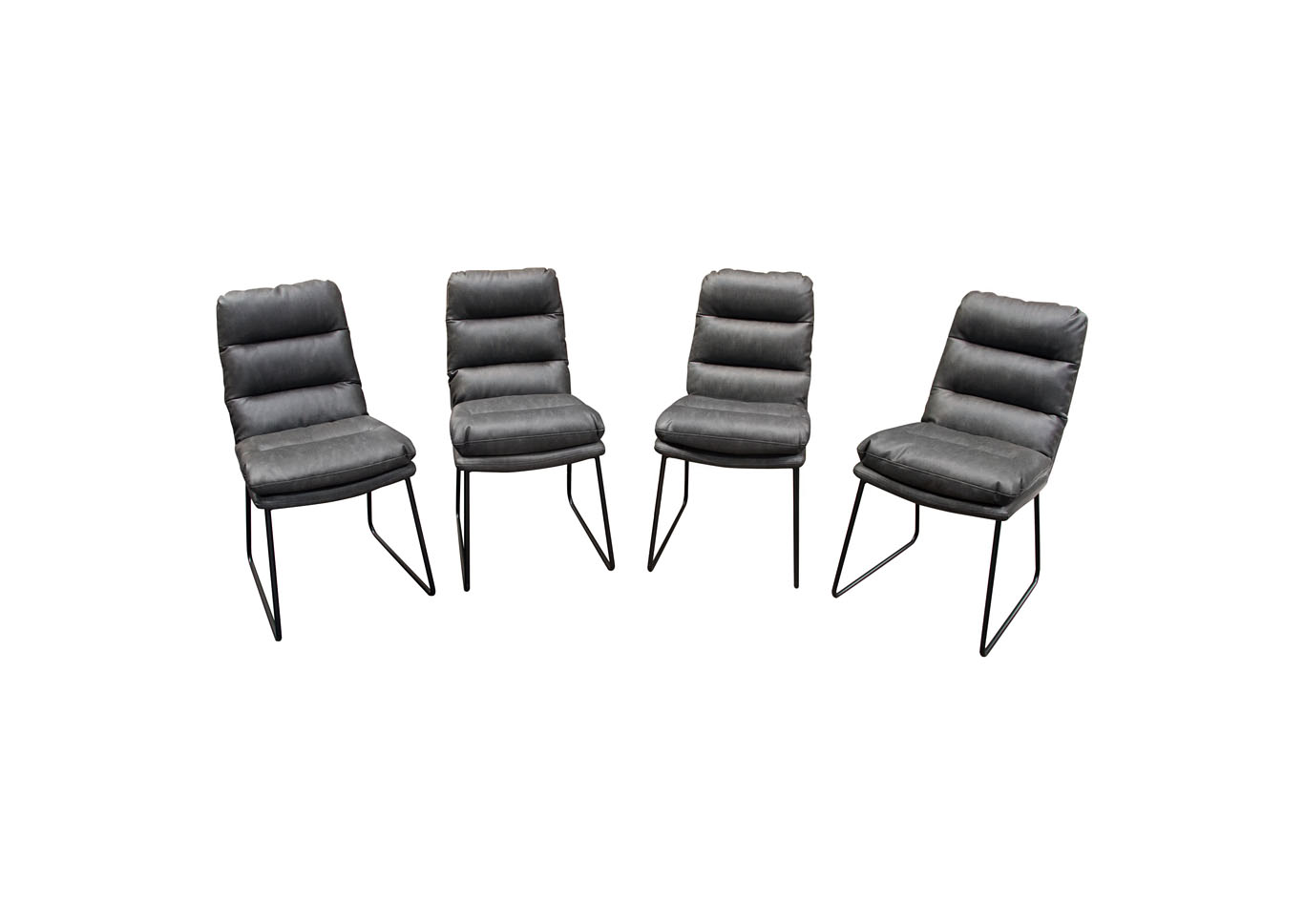 Rex Gray Dining Chairs w/Painted Metal Leg ( Set of 4),Diamond Sofa