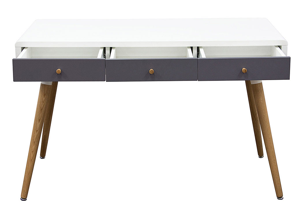 Two-Tone Retro Three Drawer Desk Table,Diamond Sofa