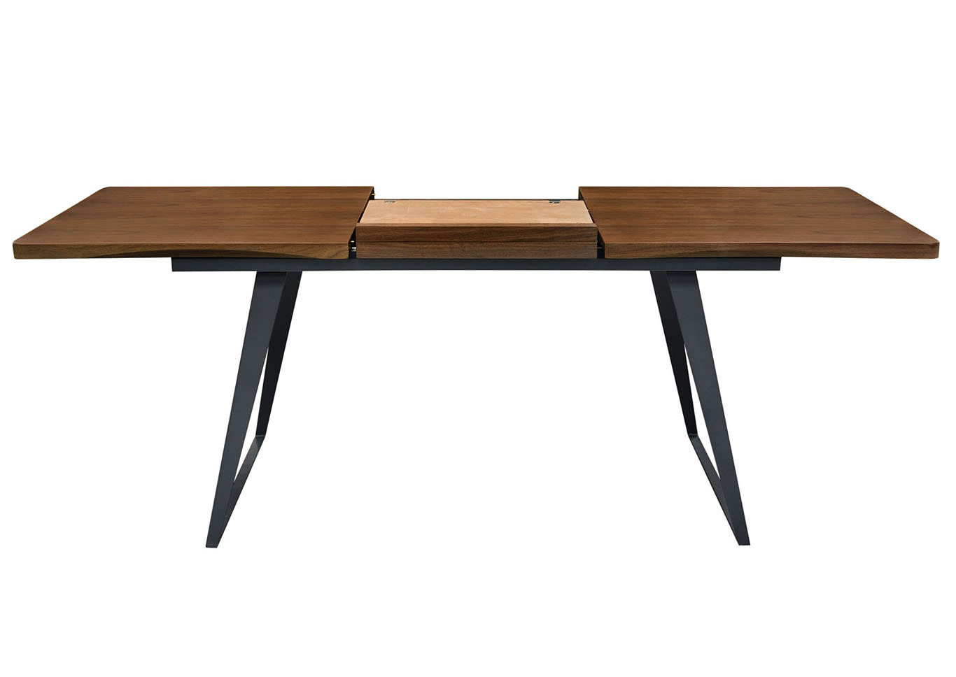 Tempo Extension Dining Table w/Walnut Top & Black Powder Coated Legs,Diamond Sofa