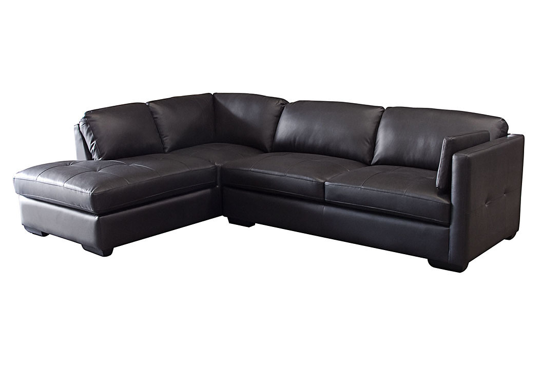 Urban Left Facing Chaise 2 Piece Sectional In Black,Diamond Sofa