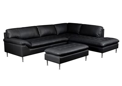 Avalon Right Facing Two Piece Chaise Sectional with Ottoman