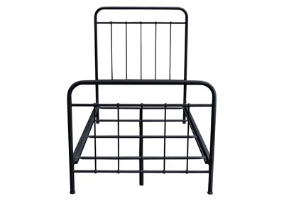 Bailey Black Powder Coat Metal Twin Bed