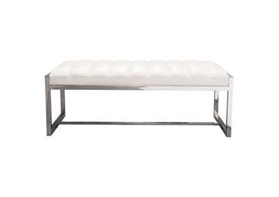 Bardot White Large Bench/Ottoman