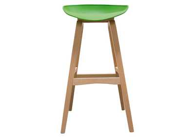 Brentwood Green Bar Height Stool w/Molded Bamboo Frame
