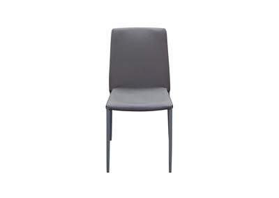 Image for 2-Pack Stackable Dining Chairs in Grey with Metal Legs by Nova Lifestyle