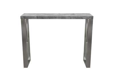 Carrera 3D Concrete Finish Bar Height Table w/Brushed Stainless Steel Legs