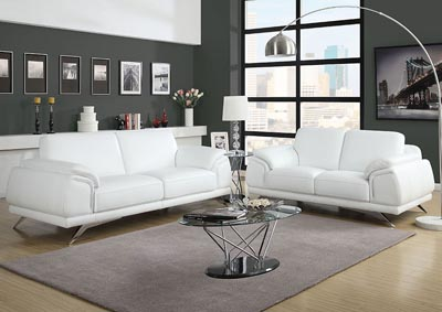 Casablanca Top Grain Leather Sofa & Loveseat Two Piece Set