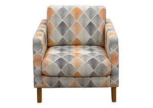 Keppel Patterned Fabric Accent Chair
