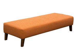 Keppel Solid Fabric Rectangular Ottoman