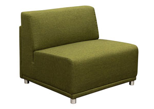 Moderna Armless Accent Chair In Green