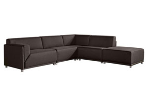 Moderna Left Facing 5 Piece Set In Cholcolate Modular Collection