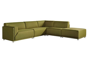 Moderna Left Facing 5 Piece Set In Green Modular Collection
