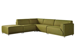 Moderna Right Facing 5 Piece Set In Green Modular Collection
