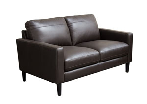 Omega Full Leather Loveseat