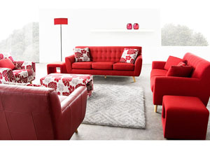 Scarlett Solid Fabric Sofa