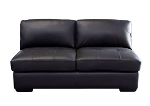 Urban Armless Loveseat In Black