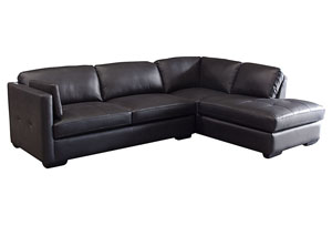 Urban Right Facing Chaise 2 Piece Sectional In Black