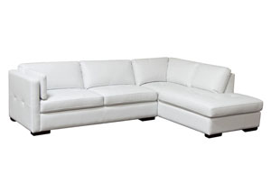 Urban Right Facing Chaise 2 Piece Sectional In White