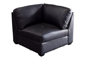 Urban Square Corner Chair In Black
