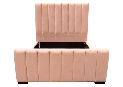 Venus Pink Upholstered California King Panel Bed